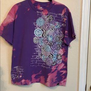 Vans Upcycled Bleach Tie Dye Purple Tee Shirt XL